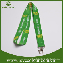 Customized top quality no moq woven logo lanyard with metal hook