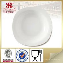 Assiette en céramique blanche en gros, foshan ceramics vaisselle bon marché
