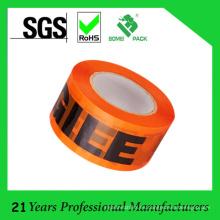 Cinta de embalaje impresa modificada para requisitos particulares BOPP de alta calidad
