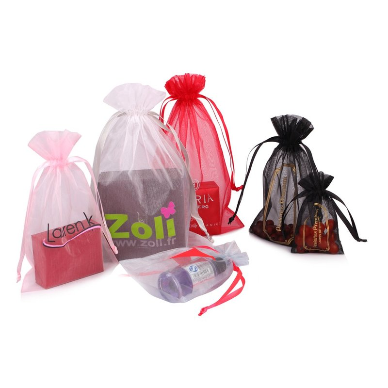 Customized logo organza pouch