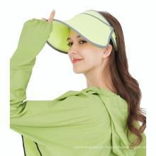 Fábrica barato cap respirável flexível viseira de sol