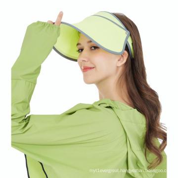Factory cheap flexible breathable sun visor cap