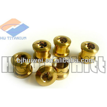Gr5 Titanium goldene Kettenblattschraube für Fahrrad