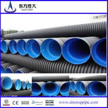 Dn300-800mm HDPE Tubo ondulado de parede dupla para drenagem