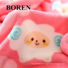 Tissu 100% coton flanelle pour vêtements pour enfants avec imprimé animal (C20X10 / 40X42)