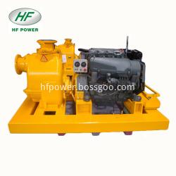 Skid Mounted Type Trash Diesel Engine Self Priming Unit Pump Set