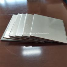Plaque et bande de revêtement en aluminium titane composite