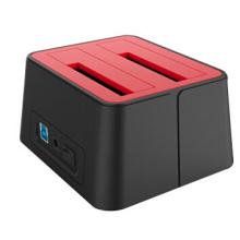 USB 3.0 Dual Bucht Docking Station mit Netzteil, kompatibel mit 2,5 / 3,5-Zoll-SATA, CE / FCC