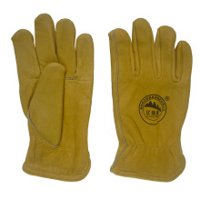 Cow Grain Leather Keystone Thumb Driving Work Glove
