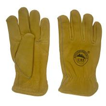 Cow Grain Leather Keystone Thumb Driving Work Glove