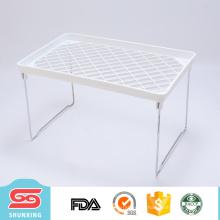 Estante plegable plástico blanco polivalente durable del superventas para el hogar