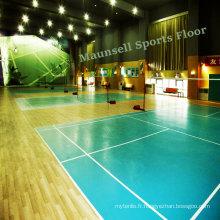 Revêtement de sol en PVC pour la Cour de sport de badminton