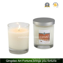 Scented Filled Votive Glass Candle with Metal Lid