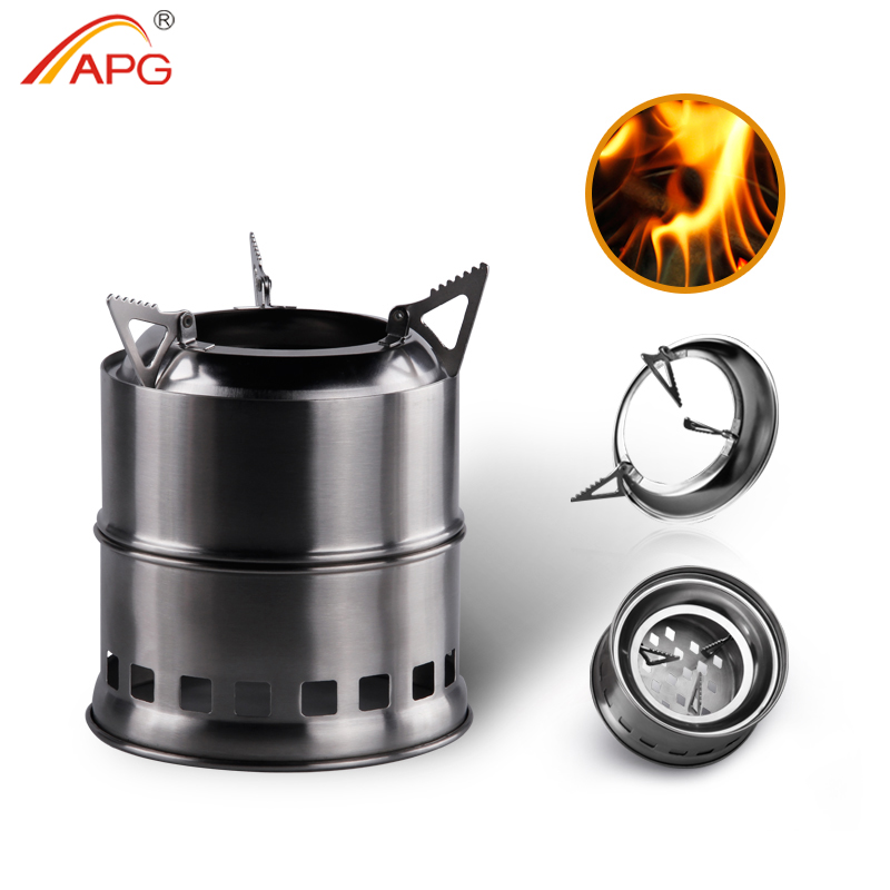APG Portable Mini Camping Wood Burning Stove