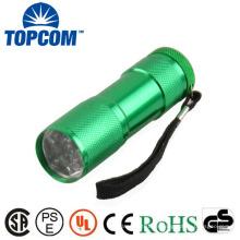9 LED Taschenlampe Fackel mit Geschenk-Box und Batterie