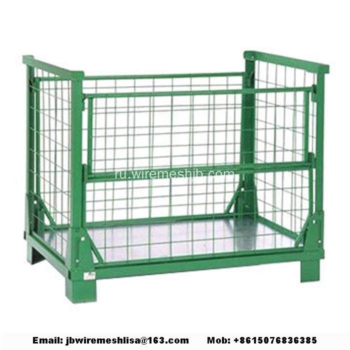Galvanized+Wire+Mesh+Folding+Storage+Cage