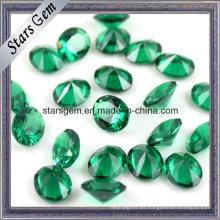 Venta caliente de alta temperatura resistente a la floración de piedras preciosas ovaladas 10 X 14 nano verde