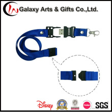 2/4 / 8GB Impreso Logo Nylon Flash Drive Lanyard con USB