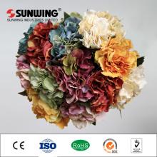 fábrica de china plástico boda orquídea flores artificiales hortensias