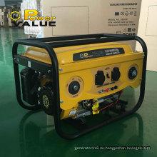 Power Value 2.5kw Kupfer-Generator 650va-Benzin-Generator zum Verkauf