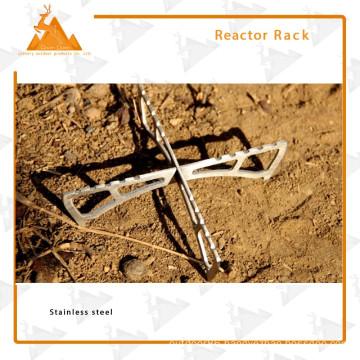 Alcohol Burner Bracket Non-slip Portable Folding Stainless Steel Rack