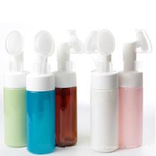 Cosmética de la botella del jabón del animal doméstico con la tapa del cepillo (FB09)