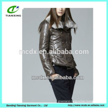 ladies short fashionable jacket with fur collar