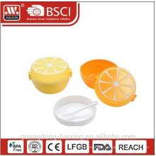 New Plastic Lunch Box/Orange shape Plastic Lunch Box