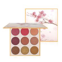 New Design Makeup Blusher 9 Color  Long Lasting Cheek Contour Rouge Wholesale Face Shining Highlighter Blush