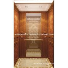 Ascenseur de passager avec miroir en verre à partir d'un fabricant professionnel