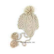 Gorra de búho hecha punto animal de acrílico