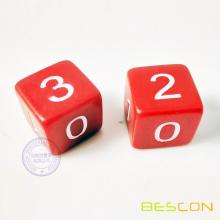 20MM Number Cube with Engraving Number 1,1,0,0,2,3