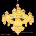 Große Hotel-Leuchter-Kristalllampe für Verkauf antiken Goldkristallleuchter