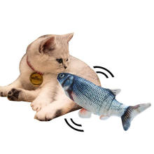 Electric Cat Toy Realistic Plush Simulation Electric Cat Toy Doll Fish Funny Interactive Pets Chew Bite Supplies for Cat