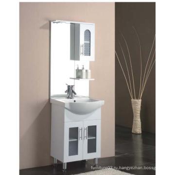 Напольная глянцевая краска МДФ-шкаф для ванной комнаты с боковым шкафом