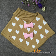 Jacquard Cloak with bowknot for childern