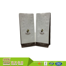 Custom One-Way Valve Mylar Coffee Pouch Flat Bottom Side Gusset Coffee Package With Custom Logo Printing