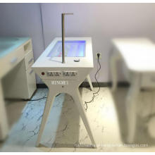 Mesa de manicure de equipamentos de unhas de beleza