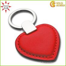 Fabrik-kundenspezifisches Qualitäts-PVC-rotes Herz Keychain