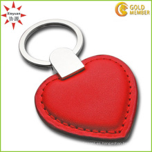 Llavero rojo del corazón del PVC de la alta calidad de encargo de la fábrica