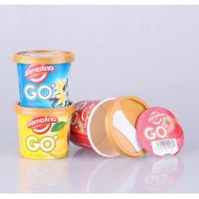 OEM Ice Cream Plastic Paper Cup (ice cream container)