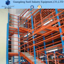 Mezzanine en acier de support de solution de stockage d'entrepôt sélectif