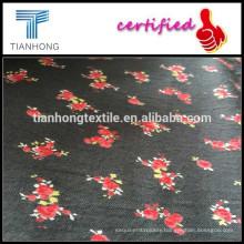brushed flower print fabric/twill Skirt printed fabric/brushed print uniqlo dress