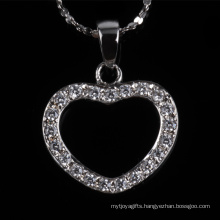 Factory Price Beautiful Jewellery Heart Shape Fashion Silver Jewelry Necklace