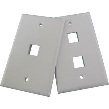 Rede de telecomunicações ABS plástico AMP RJ45 2 placa de placa de parede porta 45 graus
