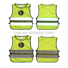 high visibility low elastic yarn reflective security vest for babies