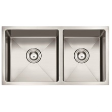 "American Standard 3219/32 ""X19"" 60/40 Hecho a mano Lavabo de acero inoxidable Undermount Doble Tazón Kitchen Sink Cupc"