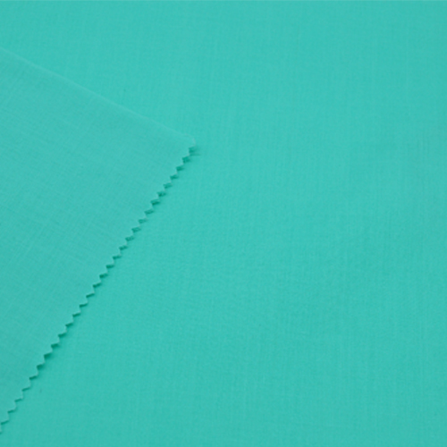 Polyester Cotton Turquoise Fabric