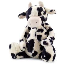 Vaca de peluche de peluche negro y blanco de peluche vaca de peluche