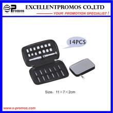 Mini herramienta de mano caja de cremallera paquete paquete de herramientas destornillador y juego de zócalos (EP-TS8129)